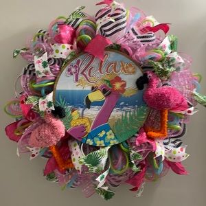 Relax flamingo Wreath